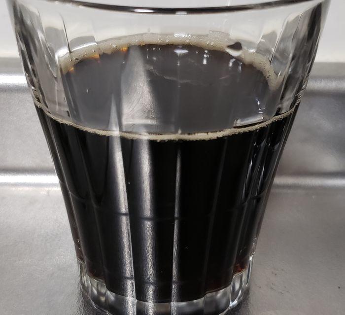 グラスに入ったリアルゴールドコーヒー味