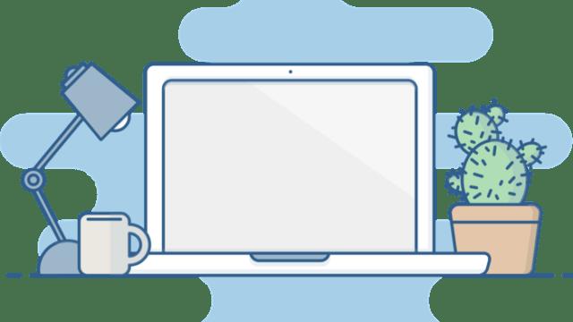 ブログを書くパソコン