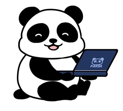 パンダのアイコン 完成