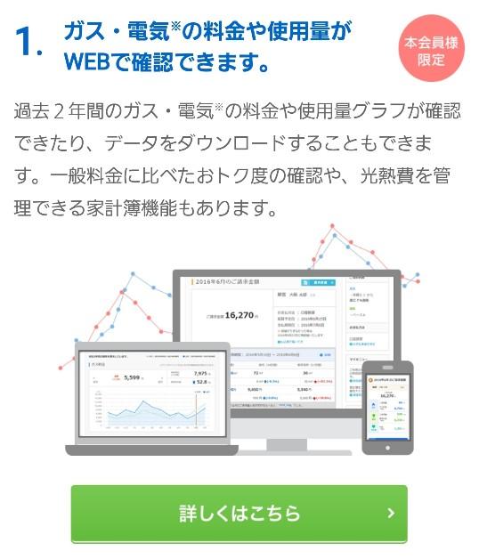 料金や使用料がWEBで確認できる