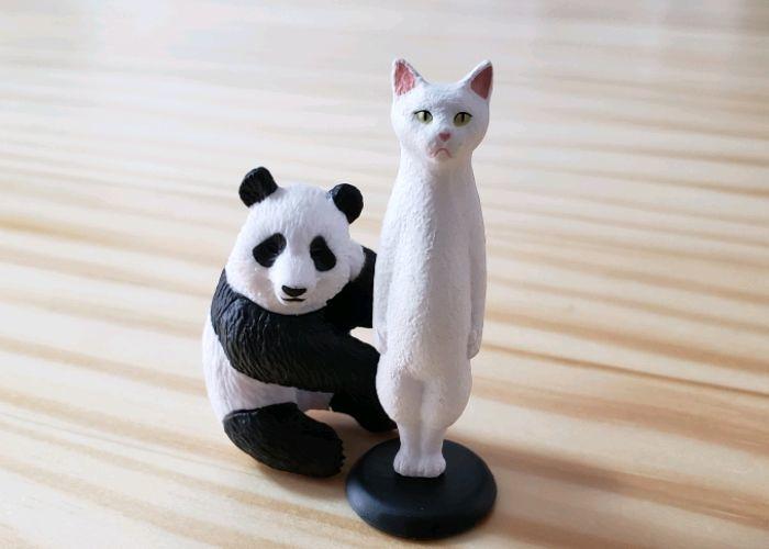 パンダとネコのガチャガチャ