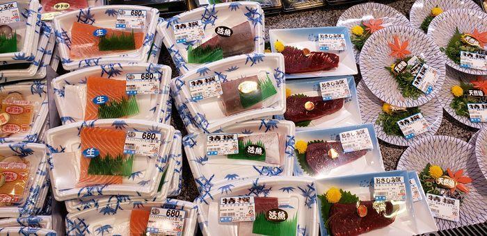 魚の陳列棚