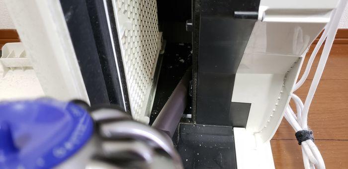 空気清浄機内の水垢