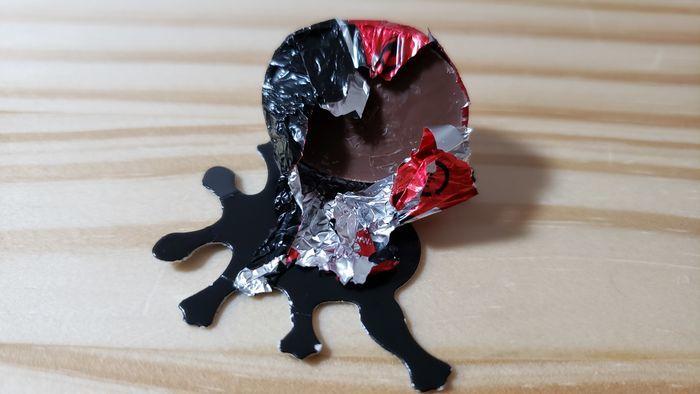 開封したてんとう虫チョコレート