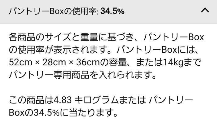 パントリーBoxの使用率