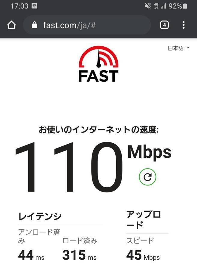楽天モバイルの回線速度