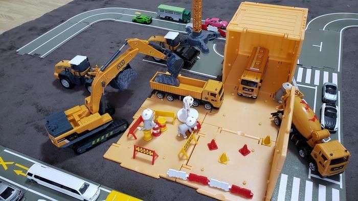 建設現場のおもちゃ