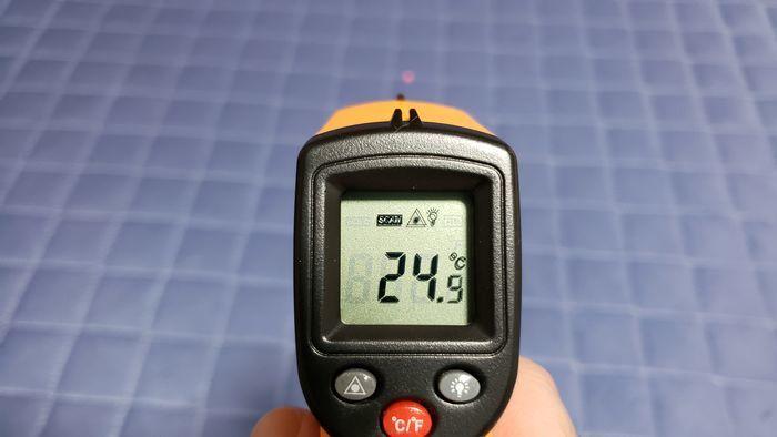 冷却敷きパッドの温度