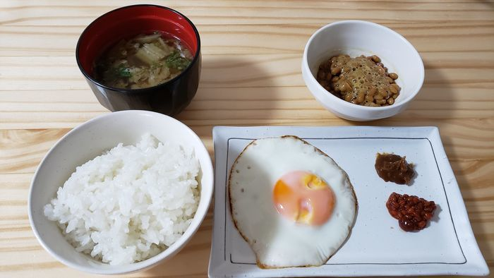 味噌を使った朝ごはん