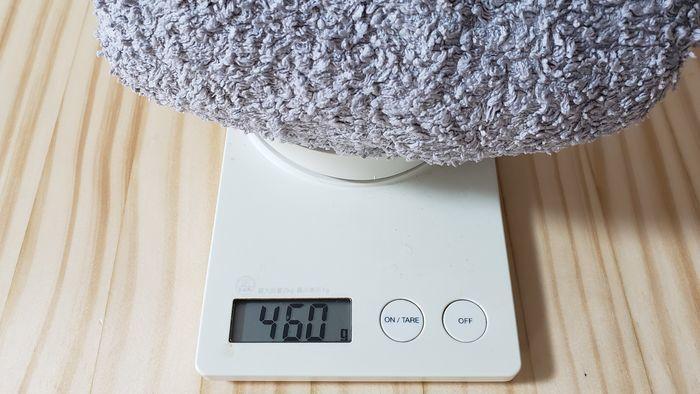 バスタオルの重さ